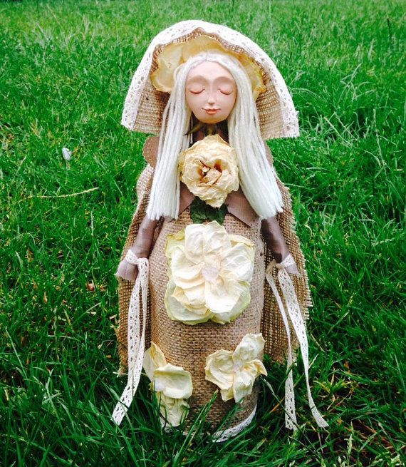 Evelyn Rose Hedgewitch of the Roses Spirit Doll by WhiteWolfCraft