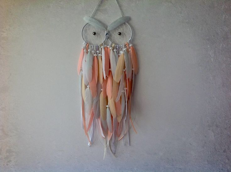 Owl Dreamcatcher - Pastel Single Feather Owl Dreamcatcher by MyDreamcatcherLane on Etsy