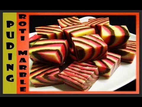 Puding Roti Marble | Puding Roti Belang (MESTI CUBA!!)