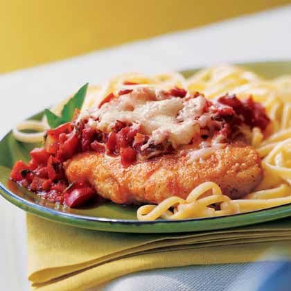 Low 6-8 Crock Pot Chicken Parmesan Recipe  Ingredients:  2 tsp. olive oil  4 skinless, boneless chicken breasts (about 3 oz.) each  1 1/4 cups crushed tomatoes  2 large cloves garlic, crushed  1 tsp. Sugar  Pinch of celery seeds  2 tbs. dry red wine  1/2 cup shredded mozzarella cheese  2 tbs. grated Parmesan cheese