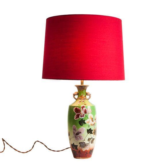 Japanese Floral Lamp by TygerDesign on Etsy