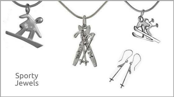 More #Sporty Jewels to suit your taste! Adorn yourself with one of these playful #Skier #Snowboarder or #Ski poles #pendant or #earrings! The perfect #Christmas #gift for the #mountain enthusiast in your #family!  #skiing #jewelry