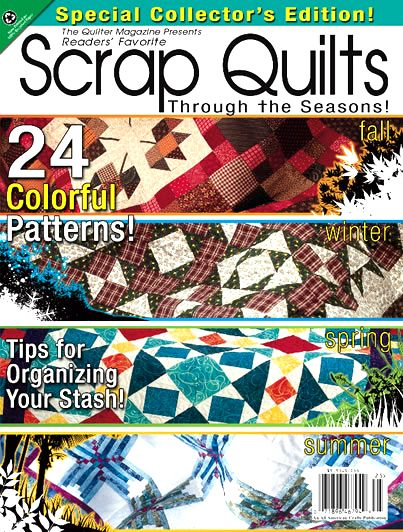 "Stashbusters! ""Scrap Quilts"" bookazine features 24 projects to help you decrease your fabric stash!"