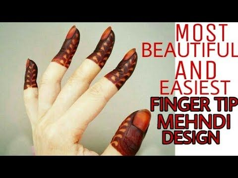 Latest/New beautiful and easiest finger tip design ever/finger mehndi design | By Beautiful You - YouTube