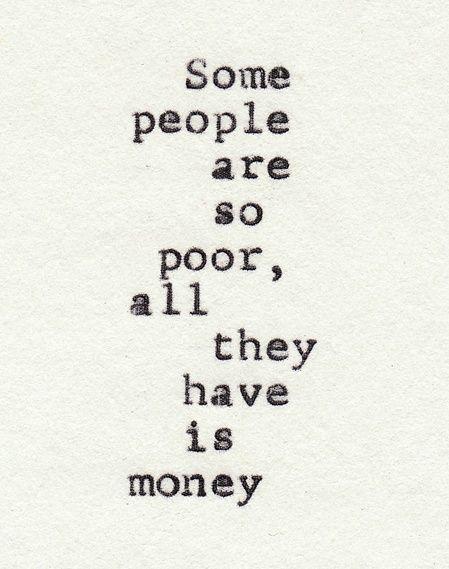 poor money