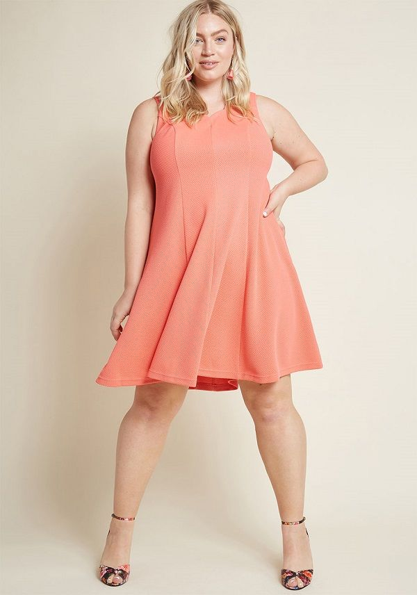 071177a3090 Coral Dress Plus Size for Women – Few colors look girly without seeming  overly frilly, but coral is one of them. The perfect blend of pink and  orange, ...