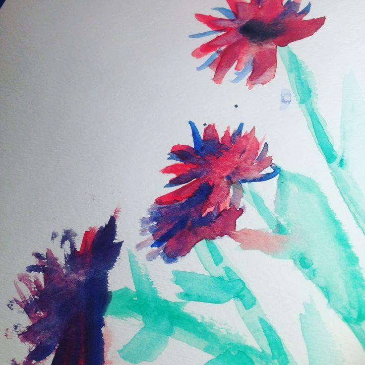 Watercolour flowers ~ Ellie bean