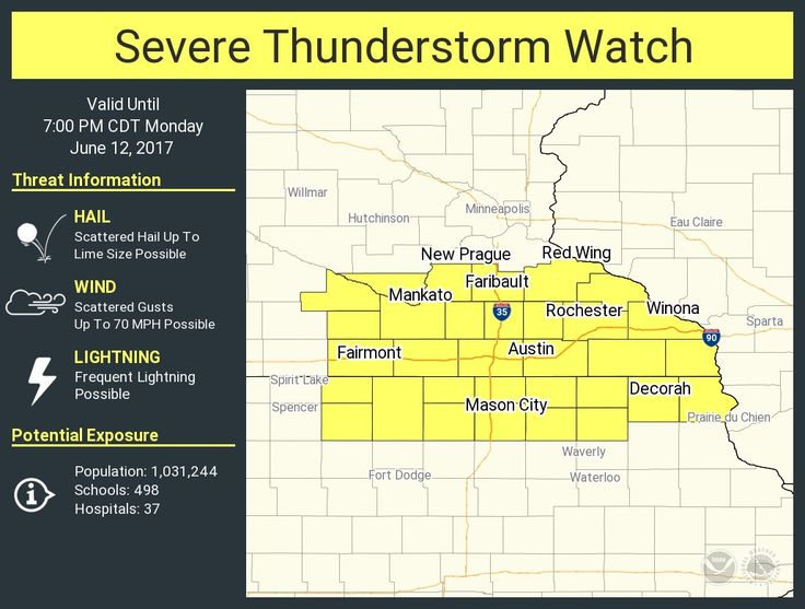 A severe thunderstorm watch has been issued for parts of Iowa and Minnesota until 7 PM CDTpic.twitter.com/nPXFlfnHYc - https://blog.clairepeetz.com/a-severe-thunderstorm-watch-has-been-issued-for-parts-of-iowa-and-minnesota-until-7-pm-cdtpic-twitter-comnpxflfnhyc/