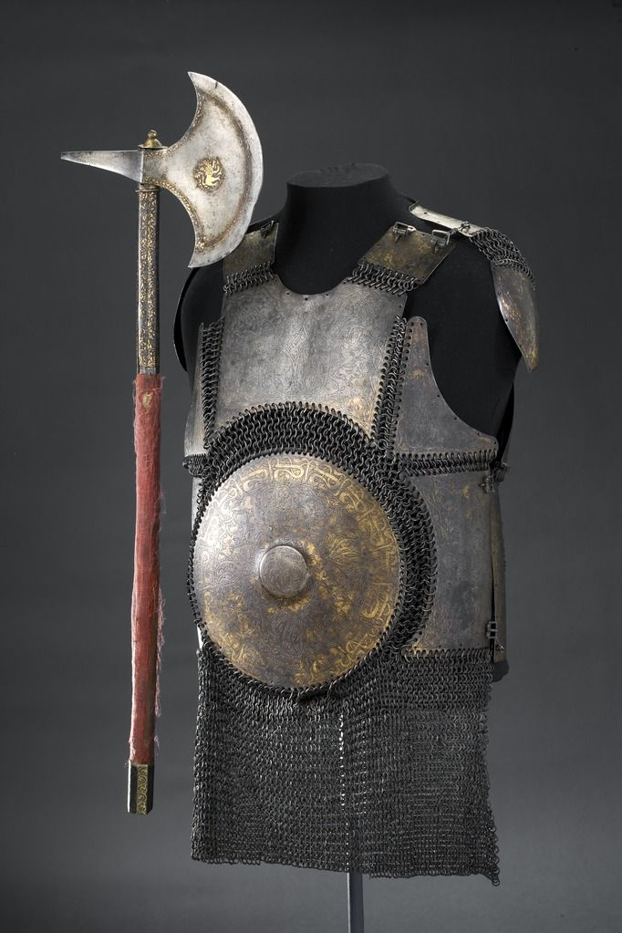 Russian armor and axe, 17th century