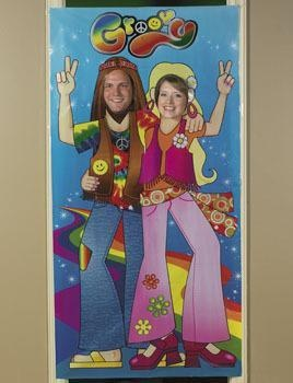 Retro HIPPY PHOTO PROP Hippy 60's Party Picture fun NEW