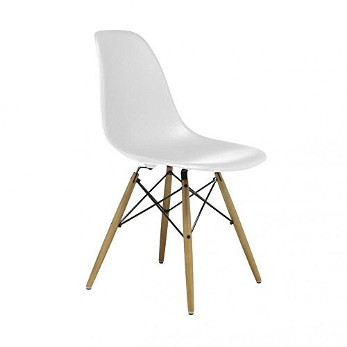 Charles Eames Eiffel Inspired White DSW Side Dining Chair