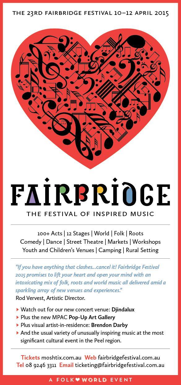 2015 Fairbridfge Festival flyer design - front www.fairbridgefestival.com.au