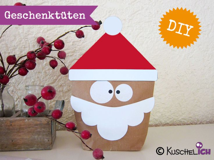 DIY ☆ 6 Geschenktüten ☆ Nikolaus / Santa von Kuschelich auf DaWanda.com