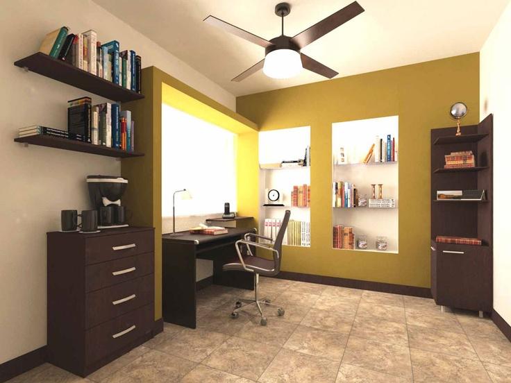 Combina muebles color chocolate.