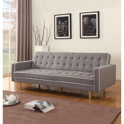 Madison Home USA 2 Tone Mid Century Sleeper Sofa