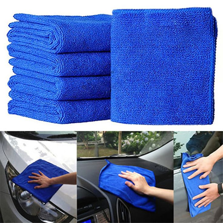 KT 10pcs Microfiber Wash Clean Towel Car Cleaning Duster Soft Cloths 30x30cm Blue