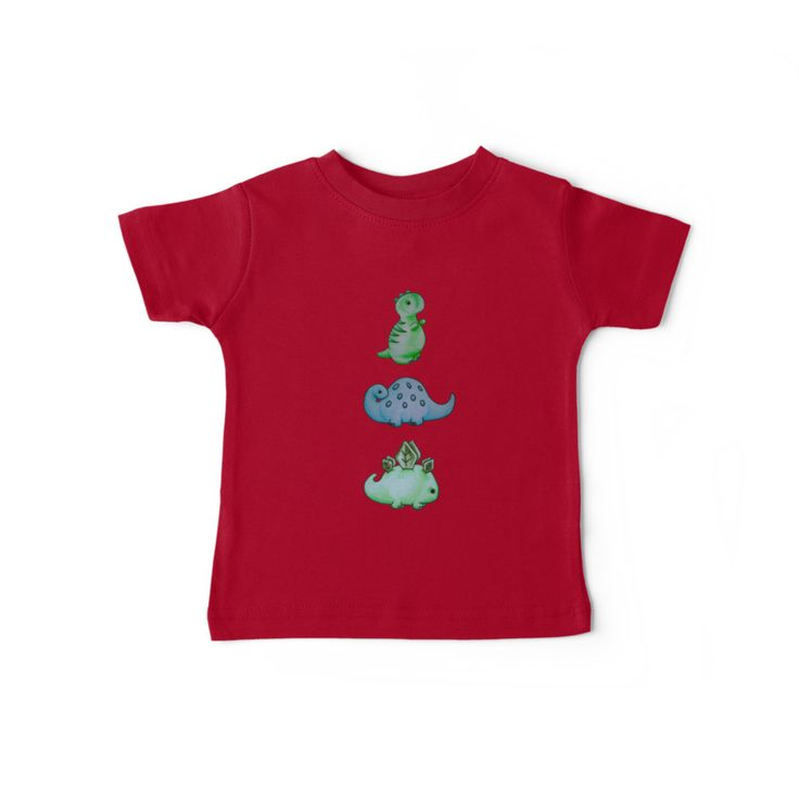"""""""3 Little Dino's"""" by I Love the Quirky - Baby Tee, available in a variety of colours"""