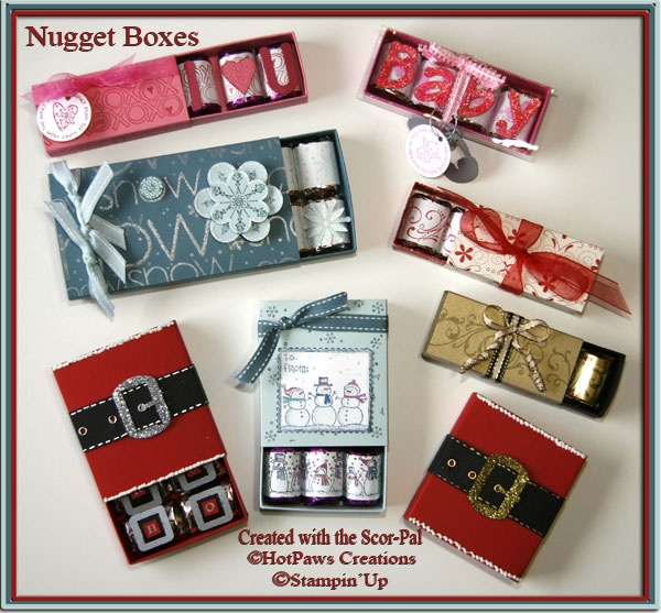 Nugget Gift Ideas Apparel: Little Chocolate Bars Decorated In Cute