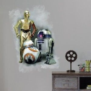 Star Wars: Episode VII – R2D2, C3PO, BB-8 Giant Wall Graphic
