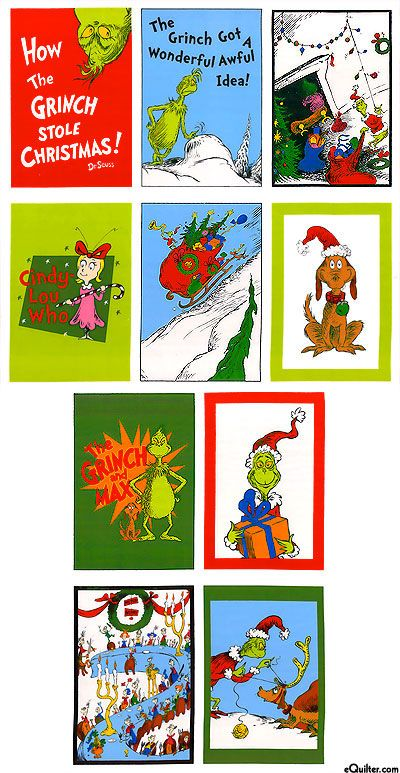 """How the Grinch Stole Christmas 2 - Story Time - 24"""" x 44"""" PANEL"""