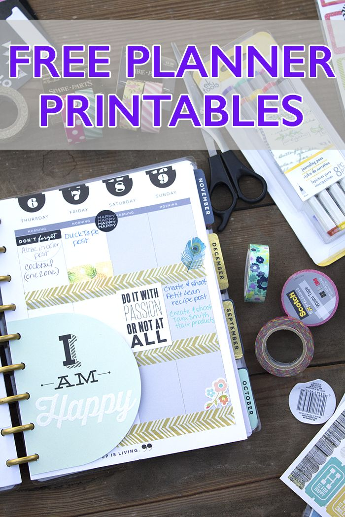 10 Free Planner Printables You'll Want