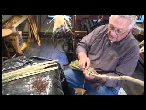 Making a broom by hand with broom corn. - YouTube
