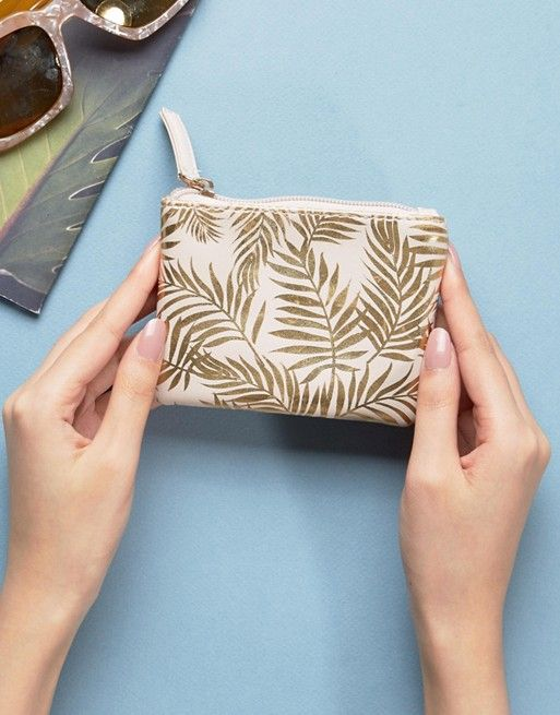 New Look Palm Print Pouch Purse