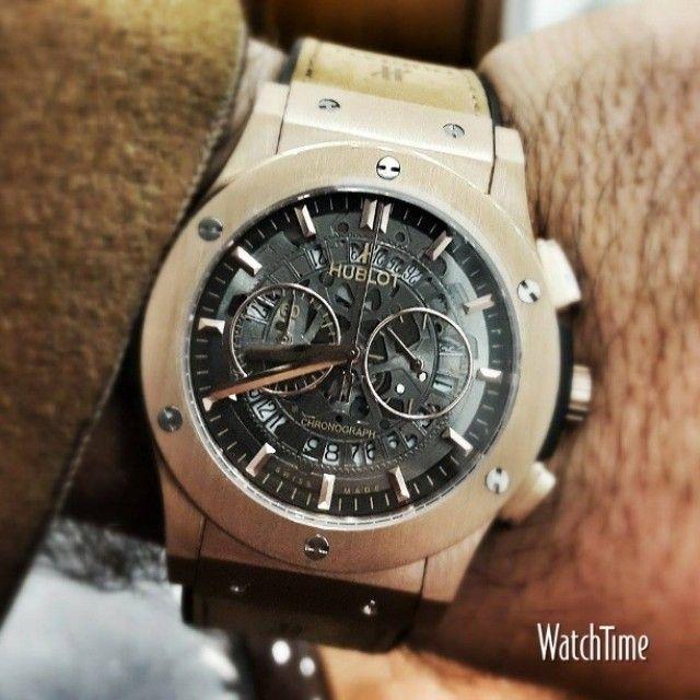 A #WATCHTIME fan is checking in with his @Hublot chronograph. #chronograph #instawatch #horology #watchnerd #wristporn #hublot. Via Instagram: http://ift.tt/1zsTIvg