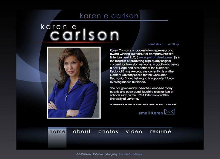 Viac ako 25 najlepších nápadov na Pintereste na tému Karen carlson - video resume website