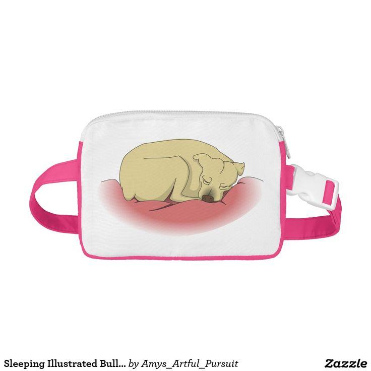 Sleeping Illustrated Bulldog