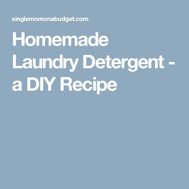 Homemade Laundry Detergent - a DIY Recipe