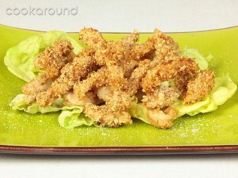 Pollo fritto impanato con le noci: Ricette Cina   Cookaround