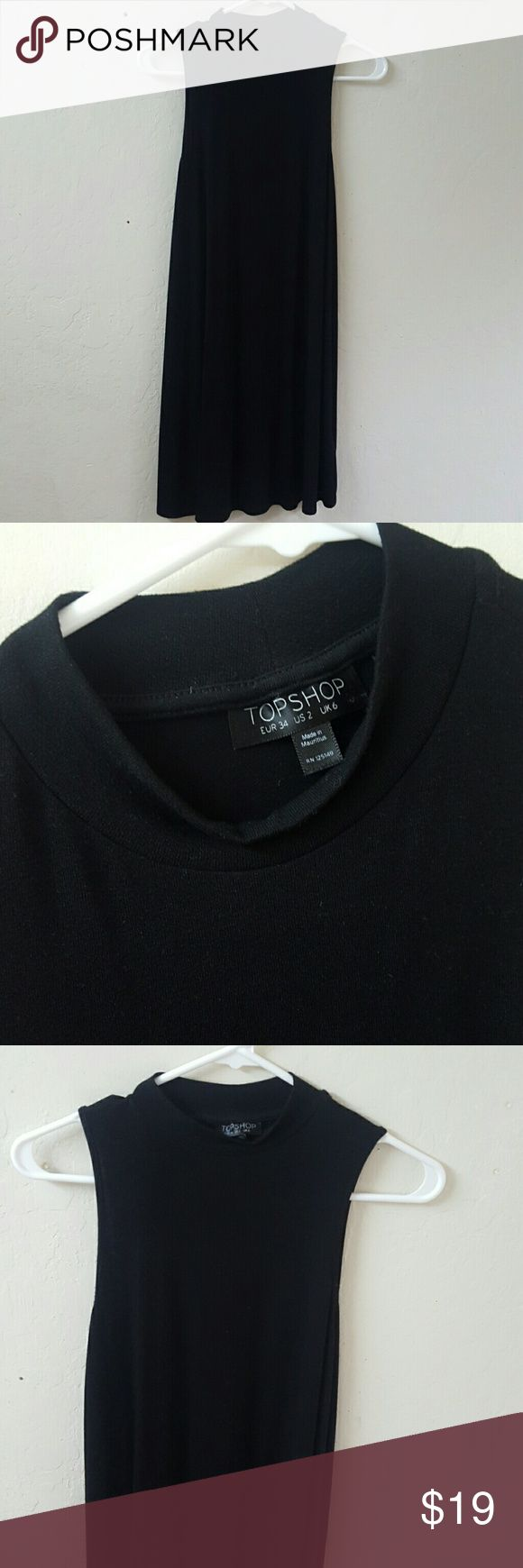 *SALE* Topshop black tunic dress Worn once in good condition. Topshop Dresses Midi