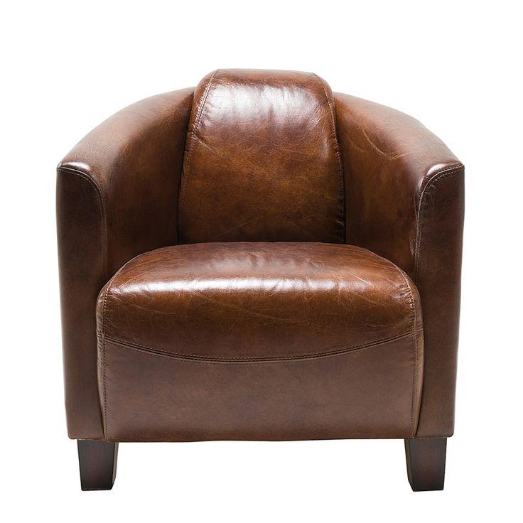 Sessel Cigar Lounge (Echtleder)   Braun
