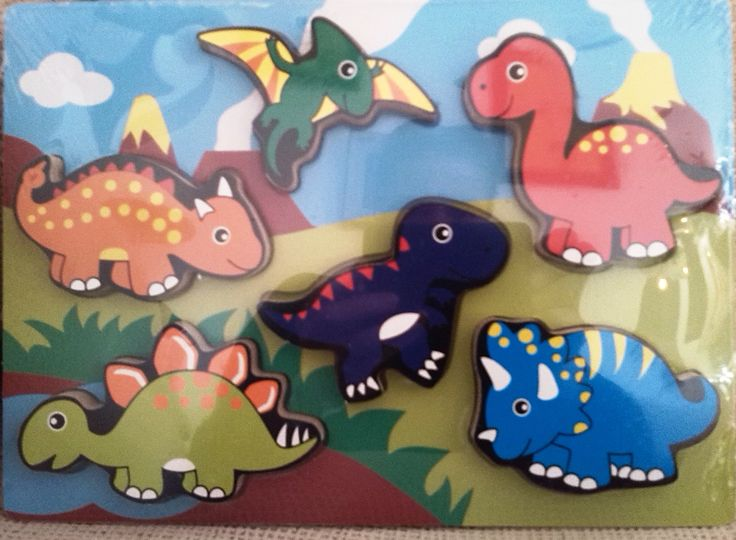 ENCAJE DINOSAURIOS (12 €) http://www.babycaprichos.com/encaje-dinosaurios-de-madera.html