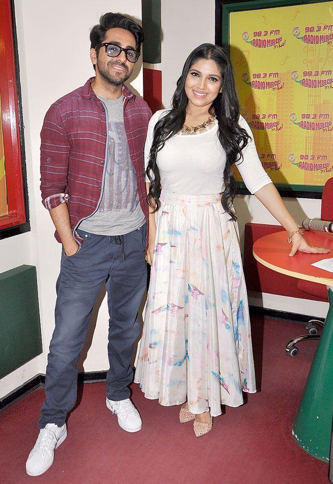 Ayushmann Khurrana and Bhumi Pednekar promoting 'Dum Laga Ke Haisha'.