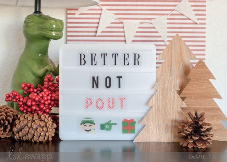 Ya Better Not Pout Heidi Swapp Mini Lightbox by Jamie Pate | @jamiepate for @heidiswapp