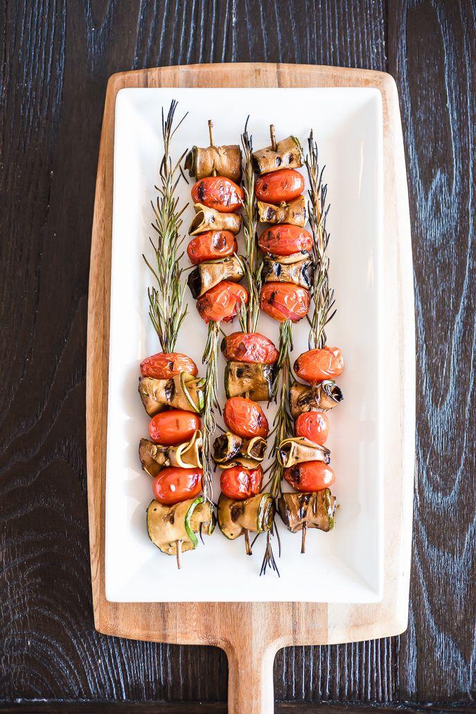 Grilled Rosemary-Skewered Vegetable Kabobs