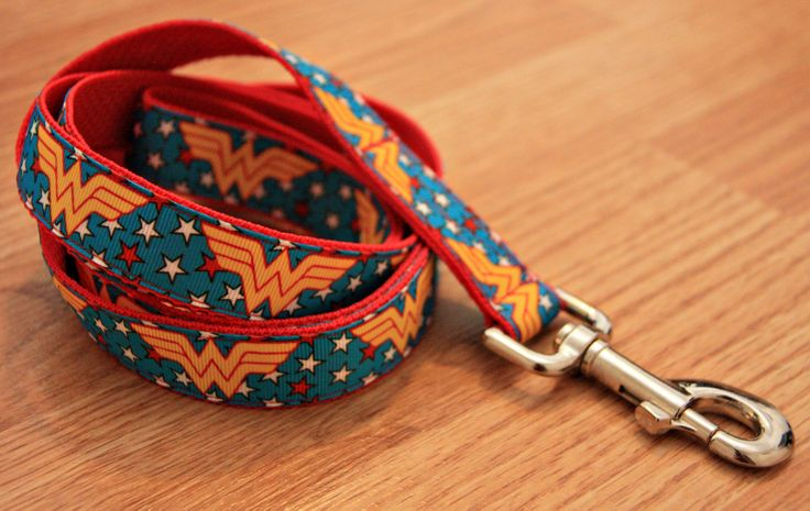 """Wonder Woman 1"""" Dog Leash. $18.00. Find Bonzai Gifts on Facebook for more!"""