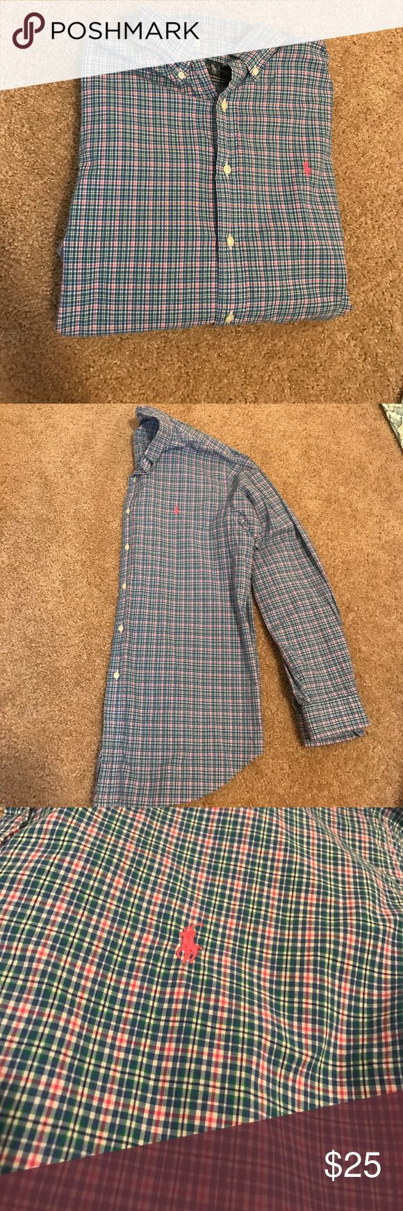 Ralph Lauren Polo dress shirt Beautiful like new Ralph Lauren Polo dress shirt... great vibrant colors!! Blue striped polo!! Perfect condition 💙 will look great on you!! Ralph Lauren Shirts Dress Shirts