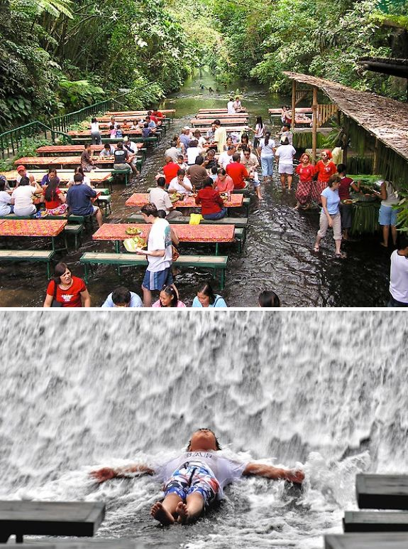17 best images about waterfall restaurant on pinterest for Villa escudero resort with the waterfalls restaurant in philippines