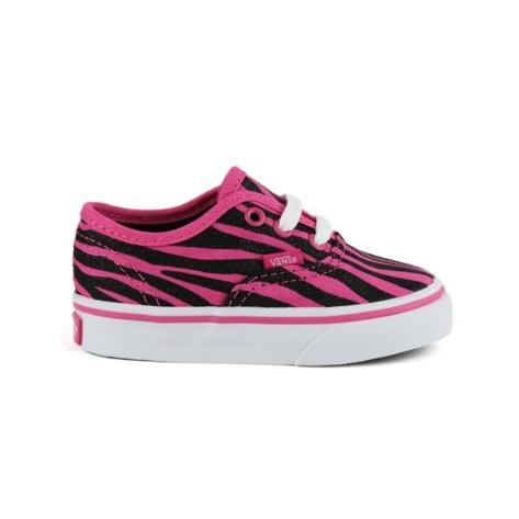 Toddler Vans Authentic Zebra Shoe - Pink