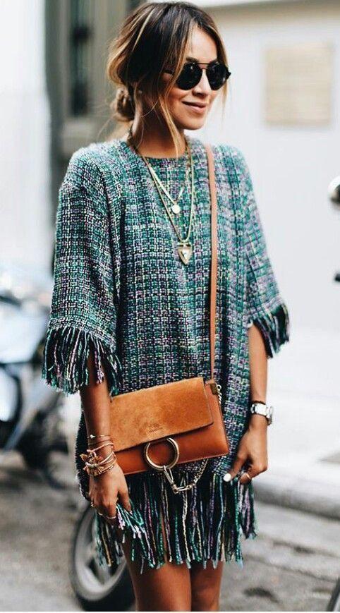 Cute textured fringe dress