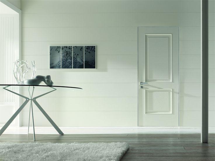White brushed oak modern door by Oikos Venezia