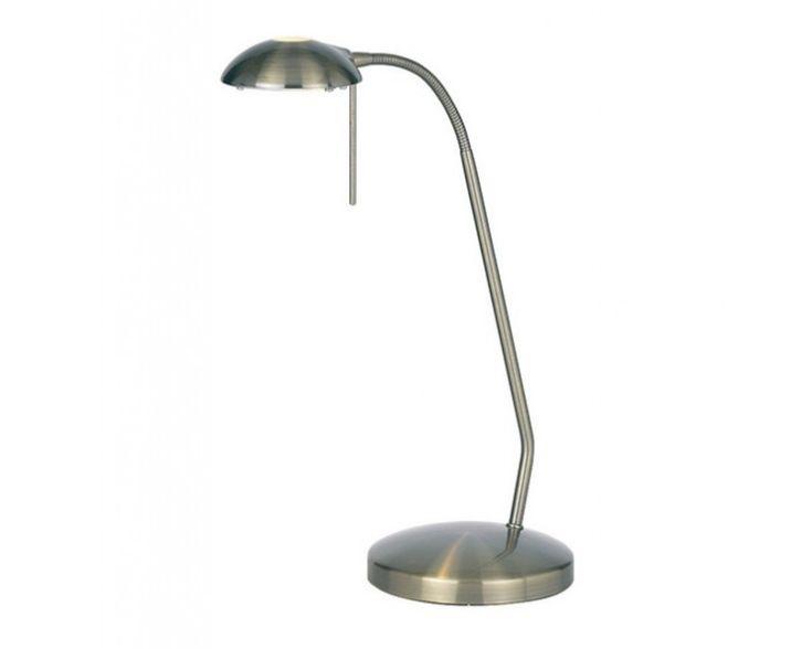 Endon 656-TL-AN Hackney G9 Task Table Lamp Antique Nickel
