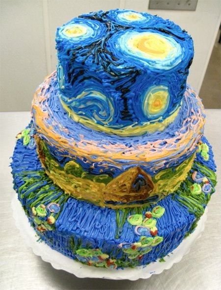 Van Gogh and Monet inspired cake!