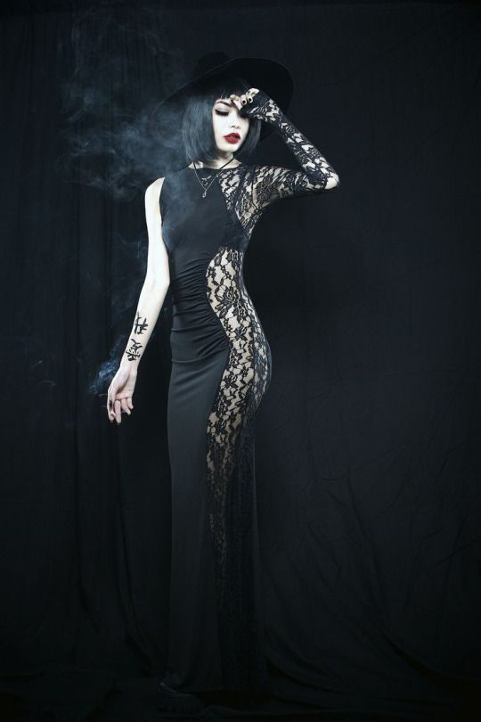 Words cannot express how much I love this maxi dress. It's tight, it's black, it's half lace, it's goth, it's EVERYTHING.
