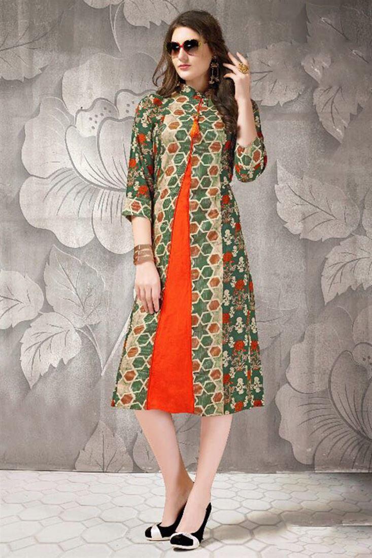13852db4dc Latest Designer Indian Kurti Catalogue 2018   Kurtis   Kurti, Kurti ...