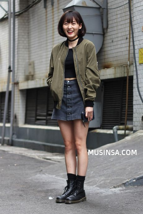Official Korean Fashion ... I have similar skirt, shirt, and those shoes, so I'll def be doing this