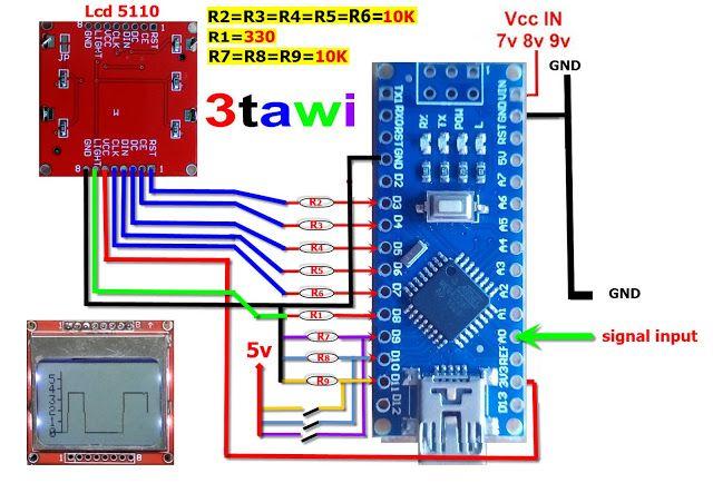 Arduino Projects Free: oscilloscope with arduino nano